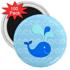 Playing In The Waves 3  Button Magnet (100 pack)