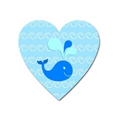 Playing In The Waves Magnet (heart)