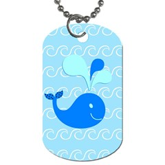 Playing In The Waves Dog Tag (One Sided)