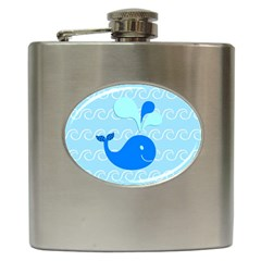 Playing In The Waves Hip Flask