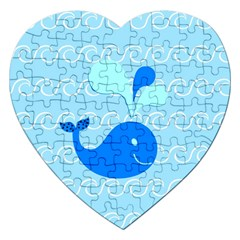 Playing In The Waves Jigsaw Puzzle (heart)