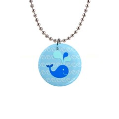 Playing In The Waves Button Necklace