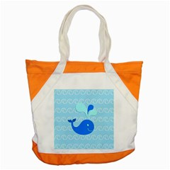 Playing In The Waves Accent Tote Bag