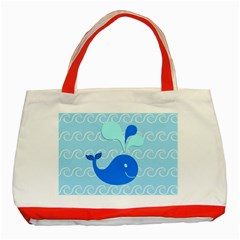 Playing In The Waves Classic Tote Bag (Red)