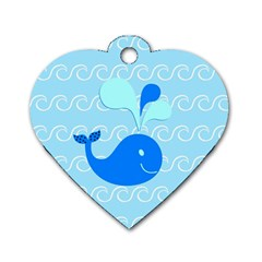 Playing In The Waves Dog Tag Heart (Two Sided)