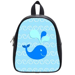 Playing In The Waves School Bag (small)