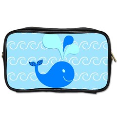 Playing In The Waves Travel Toiletry Bag (two Sides)
