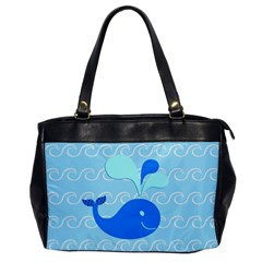 Playing In The Waves Oversize Office Handbag (one Side)