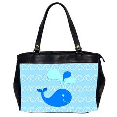 Playing In The Waves Oversize Office Handbag (Two Sides)