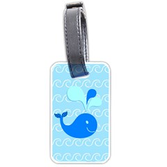 Playing In The Waves Luggage Tag (Two Sides)