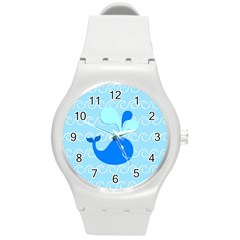 Playing In The Waves Plastic Sport Watch (medium)