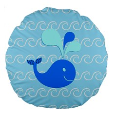 Playing In The Waves 18  Premium Round Cushion