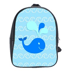 Playing In The Waves School Bag (xl)