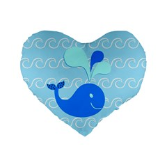 Playing In The Waves 16  Premium Heart Shape Cushion
