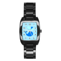 Playing In The Waves Stainless Steel Barrel Watch