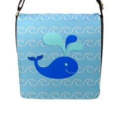 Playing In The Waves Flap Closure Messenger Bag (large)