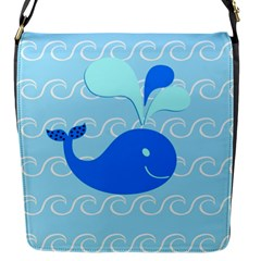 Playing In The Waves Flap Closure Messenger Bag (small)