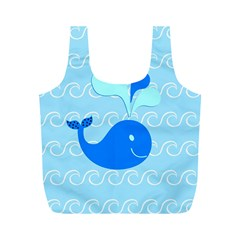 Playing In The Waves Reusable Bag (m)