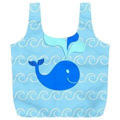 Playing In The Waves Reusable Bag (xl)