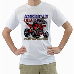 American Quad Men s T-Shirt (White)
