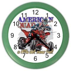 American Quad Color Wall Clock