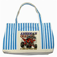 American Quad Striped Blue Tote Bag