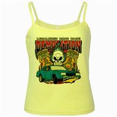 Demolition Derby Yellow Spaghetti Tank