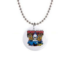 Demolition Derby 1  Button Necklace