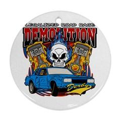 Demolition Derby Ornament (Round)