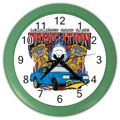 Demolition Derby Color Wall Clock