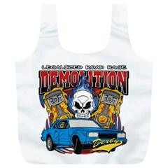 Demolition Derby Full Print Recycle Bag (xl)