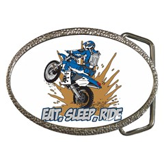 Eat Sleep Ride Motocross Belt Buckle