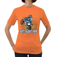 Eat Sleep Ride Motocross Women s Dark T Shirt