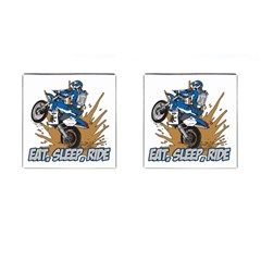 Eat Sleep Ride Motocross Cufflinks (Square)