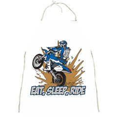 Eat Sleep Ride Motocross Full Print Apron