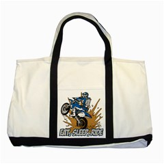 Eat Sleep Ride Motocross Two Tone Tote Bag