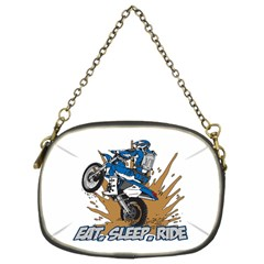 Eat Sleep Ride Motocross Chain Purse (two Sides)