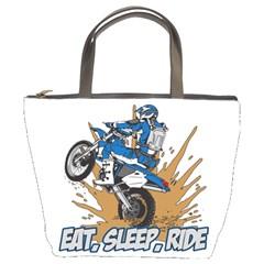 Eat Sleep Ride Motocross Bucket Bag