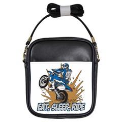 Eat Sleep Ride Motocross Girls Sling Bag