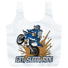 Eat Sleep Ride Motocross Full Print Recycle Bag (XL)