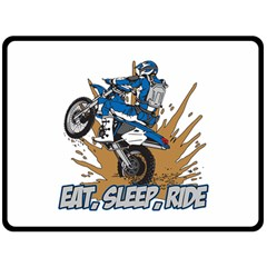 Eat Sleep Ride Motocross Fleece Blanket (Extra Large)