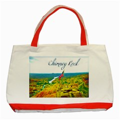 Chimney Rock Overlook Air Brushed Classic Tote Bag (Red)