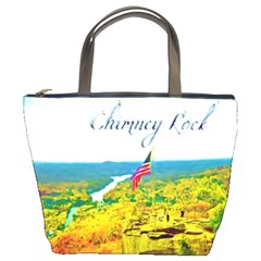 Chimney Rock Overlook Air Brushed Bucket Handbag