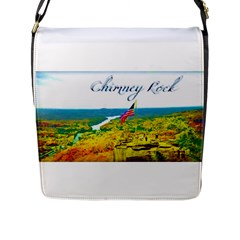 Chimney Rock Overlook Air Brushed Flap Closure Messenger Bag (large)