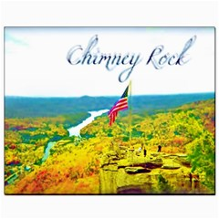Chimney Rock Overlook Air Brushed Canvas 8  X 10  (unframed)