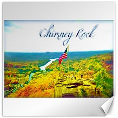 Chimney Rock Overlook Air Brushed Canvas 12  x 12  (Unframed)