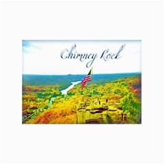 Chimney Rock Overlook Air Brushed Canvas 12  x 16  (Unframed)