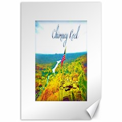 Chimney Rock Overlook Air Brushed Canvas 12  x 18  (Unframed)