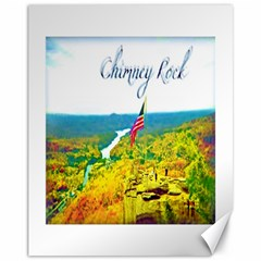 Chimney Rock Overlook Air Brushed Canvas 11  x 14  (Unframed)