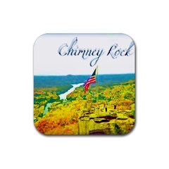 Chimney Rock Overlook Air Brushed Drink Coasters 4 Pack (square)